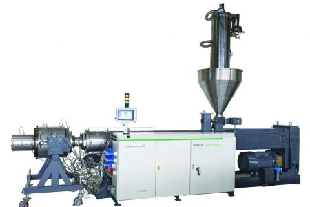 Premiere new leanex twin screw extruder for standard upvc pipe